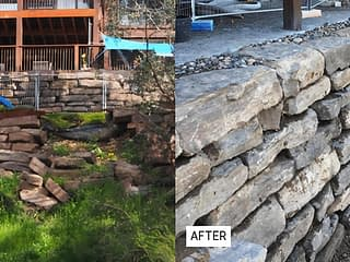 Featured Project: Repairing a failed mudstone retaining wall in Greensborough