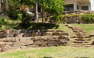 stone steps, rock stairs boulders stairs