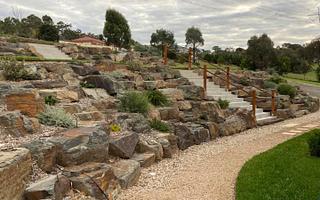 Rock Retaining Walls Melbourne 4